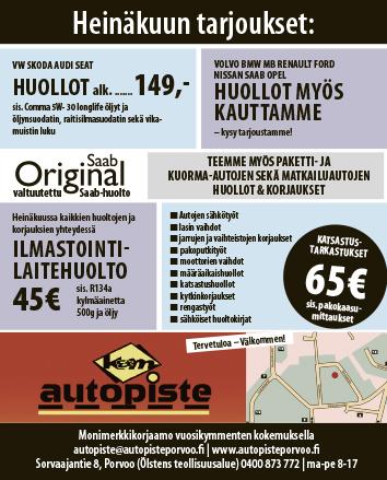 Heinäkuun 2020 autohuoltotarjous